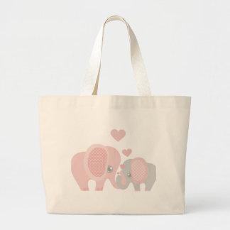 Beautiful Baby Girl Pink Elephant Jumbo Tote Bag