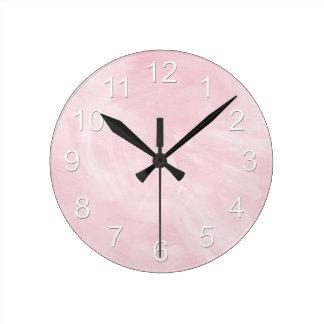 Beautiful Baby Girl Pink Round Clock