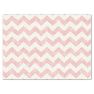 "Beautiful Baby Light Pink Chevron Zig Zag Pattern 17"" X 23"" Tissue Paper"