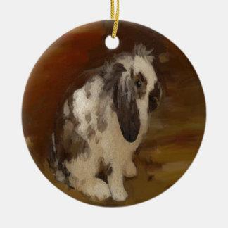 Beautiful Baby Lop Eared Rabbit/Kit Ceramic Ornament