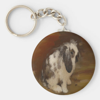 Beautiful Baby Lop Eared Rabbit/Kit Keychain