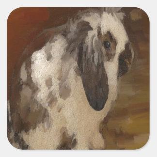 Beautiful Baby Lop Eared Rabbit/Kit Square Sticker