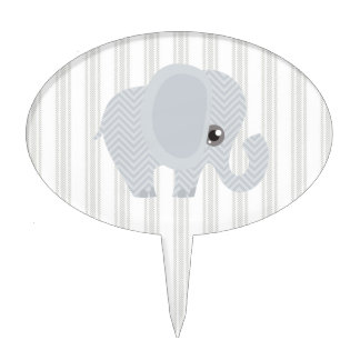 Beautiful Baby Neutral Elephant Cake Topper