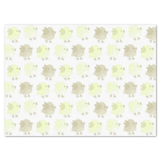 "Beautiful Baby Neutral Yellow Birdie Chicks 17"" X 23"" Tissue Paper"