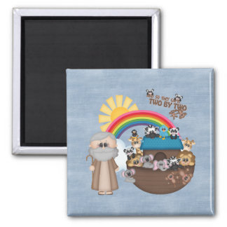 Beautiful Baby Noah's Ark 2 Inch Square Magnet