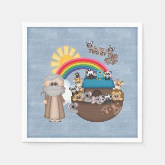 Beautiful Baby Noah's Ark Paper Napkin