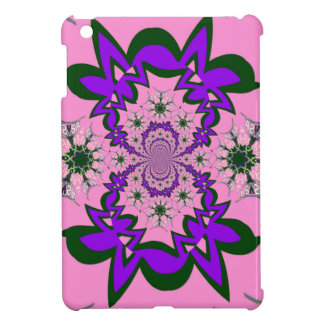 Beautiful baby pink floral purple shade motif mono case for the iPad mini