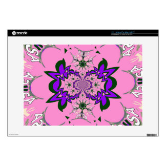 Beautiful baby pink floral purple shade motif mono decals for laptops