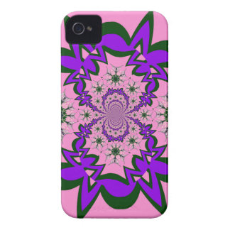 Beautiful baby pink floral purple shade motif mono iPhone 4 cover