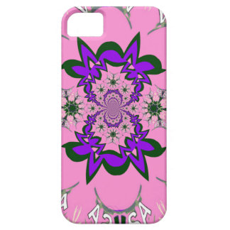 Beautiful baby pink floral purple shade motif mono iPhone SE/5/5s case
