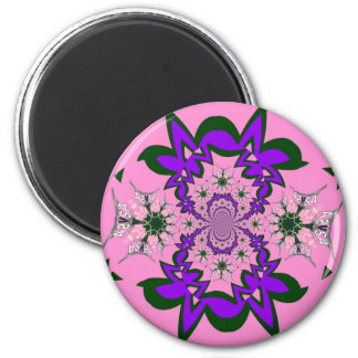 Beautiful baby pink floral purple shade motif mono magnet