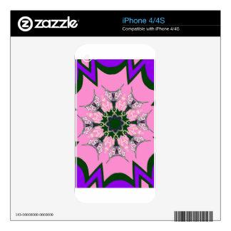 Beautiful baby pink purple shade motif monogram de iPhone 4 skin