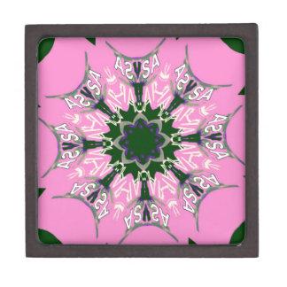 Beautiful baby pink purple shade motif monogram de jewelry box
