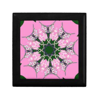 Beautiful baby pink purple shade motif monogram de keepsake box