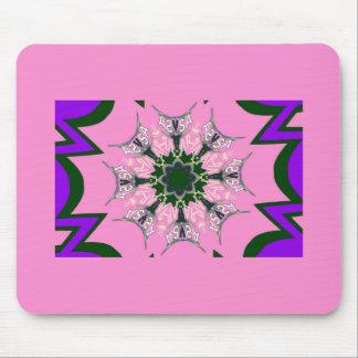 Beautiful baby pink purple shade motif monogram de mouse pad