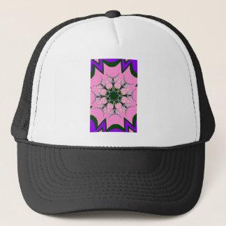 Beautiful baby pink purple shade motif monogram de trucker hat