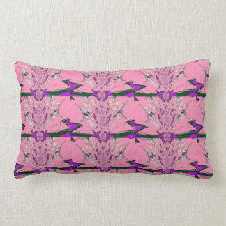 Beautiful baby pink  purple shade motif monogram lumbar pillow