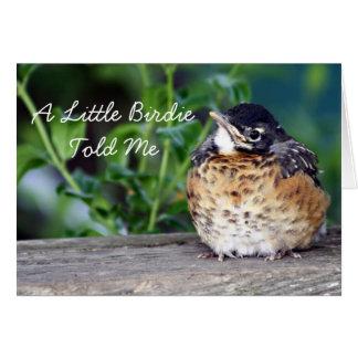 Beautiful Baby Robin Greeting Card