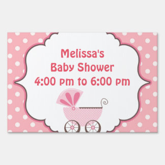 Beautiful Baby Shower Party Yard Sign