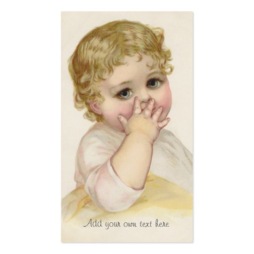 Beautiful Baby's Kiss Vintage Illustration Business Cards