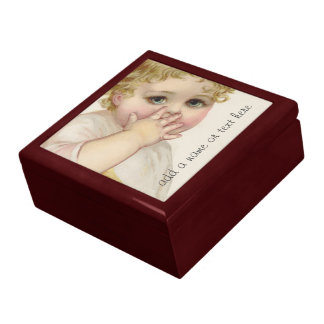 Beautiful Baby's Kiss Vintage Illustration Gift Box
