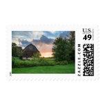 Beautiful Backyard Sunset Postage Stamp