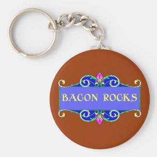 Beautiful Bacon!  Bacon Rocks! Keychains