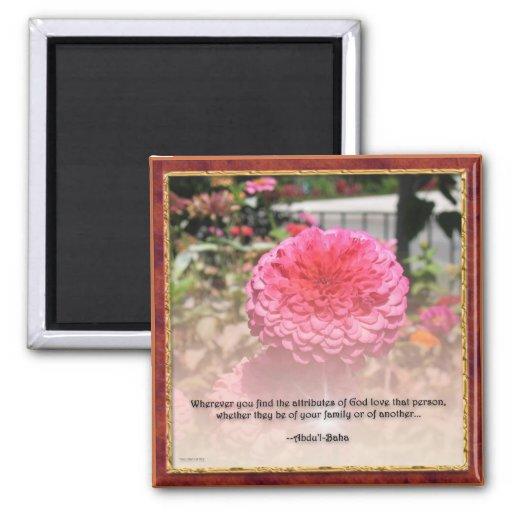 Beautiful Baha'i Attributes Quotation Magnet