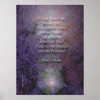 Beautiful Baha'i Prayer by Adu'l-Baha Poster