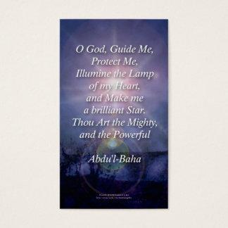 Beautiful Baha'i Prayers Profile Wallet Cards