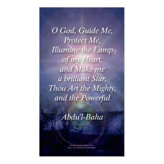 Beautiful Baha'i Prayers Profile Wallet Cards Business Card Templates