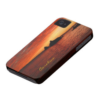 Beautiful Baja Beach Sunset Custom Name iPhone 4 Cover