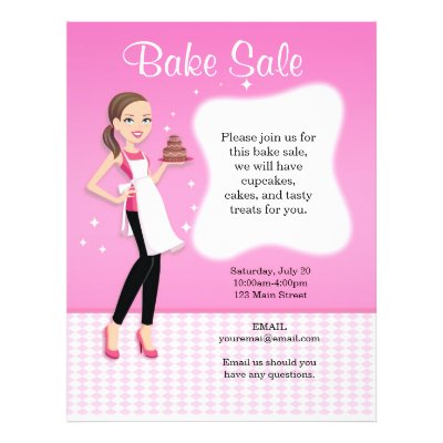 Beautiful Bake Sale Flyer Personalized | Zazzle
