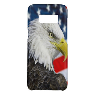 Beautiful Bald Eagle head  and a American flag 1 Case-Mate Samsung Galaxy S8 Case