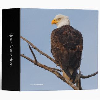 Beautiful Bald Eagle in a Tree 3 Ring Binder