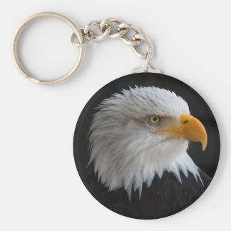 Beautiful bald eagle portrait keychain