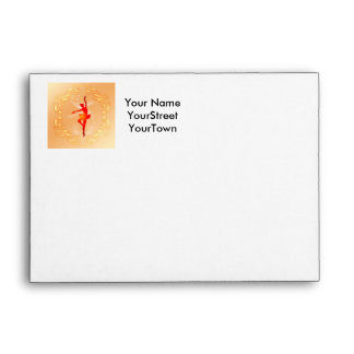 Beautiful ballerina envelope