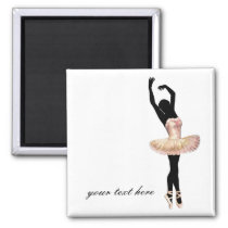 Beautiful Ballerina in pink Magnet
