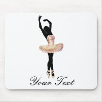 Beautiful Ballerina in pink Mouse Pad