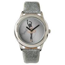 Beautiful Ballerina in Pink personalized design Wristwatch