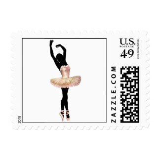 Beautiful Ballerina in pink Postage