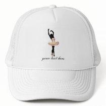 Beautiful Ballerina in pink Trucker Hat