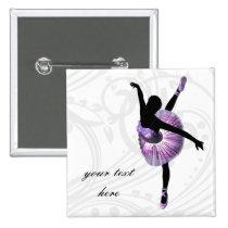 Beautiful Ballerina in purple Button