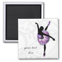 Beautiful Ballerina in purple Magnet