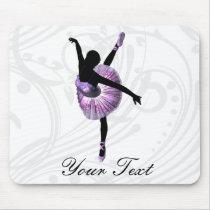Beautiful Ballerina in purple Mouse Pad