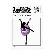 Beautiful Ballerina in purple Postage