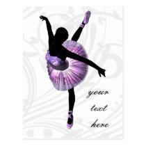 Beautiful Ballerina in purple Postcard