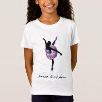 Beautiful Ballerina in purple T-Shirt
