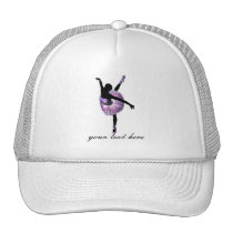 Beautiful Ballerina in purple Trucker Hat
