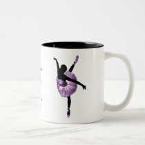 Beautiful Ballerina in purple Two-Tone Coffee Mug